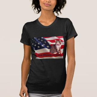 Cat Ladies T-Shirt God Bless America