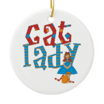 Cat Lady Christmas Tree Ornaments