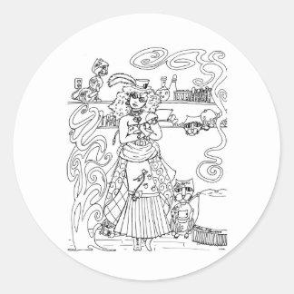 Cat Lady Classic Round Sticker