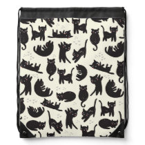 Cat Lady Drawstring Backpack