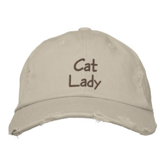 Cat Lady Embroidered Baseball Cap / Hat