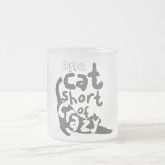 Cat Lady Frosted Glass Coffee Mug