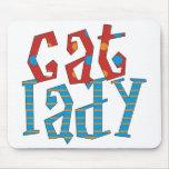 Cat Lady Mouse Pad