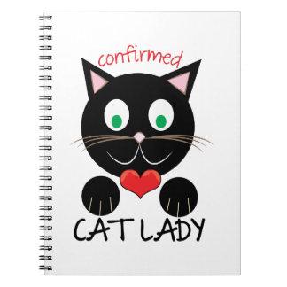 Cat Lady Spiral Note Book