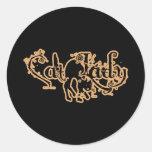 Cat Lady Orange Sticker