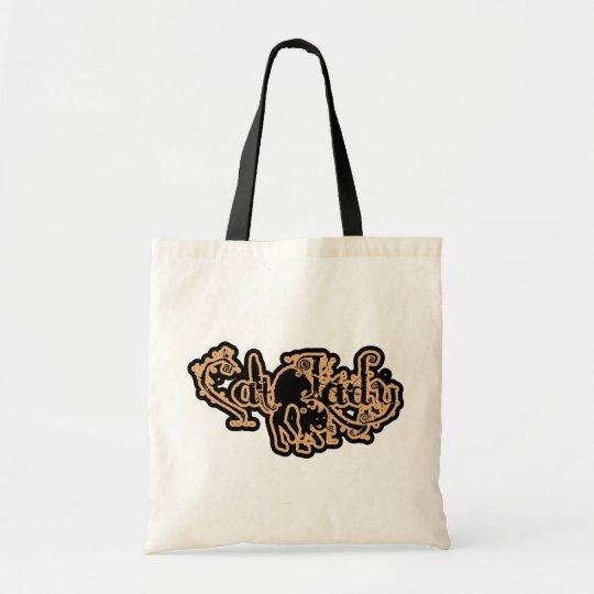 Cat Lady Orange Tote Bag