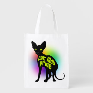 Cat Lady Pride Reusable Grocery Bags