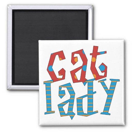 Cat Lady Refrigerator Magnets