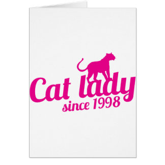 cat lady since 1998 card