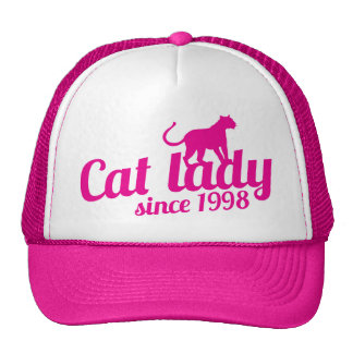 cat lady since 1998 hats