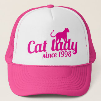 cat lady since 1998 trucker hat