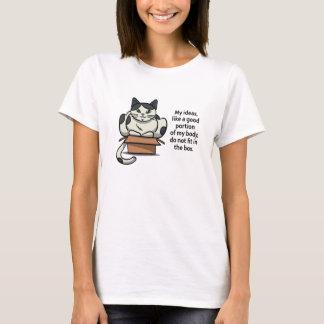 Cat Lady Think Outside the Box White Shirt