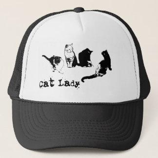 Cat Lady Trucker Hat