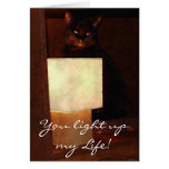 Cat & Lamp Fun Valentines or Romantic Lover's Card