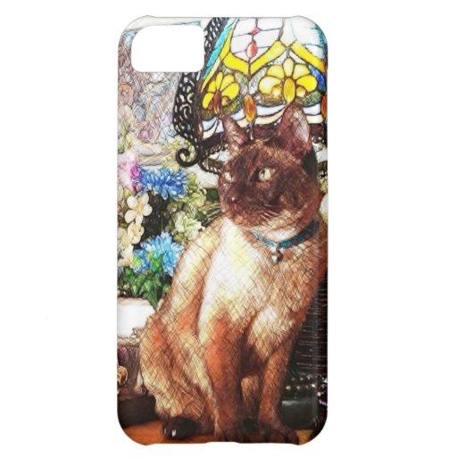 Cat & Lamp Sketch Case For iPhone 5C