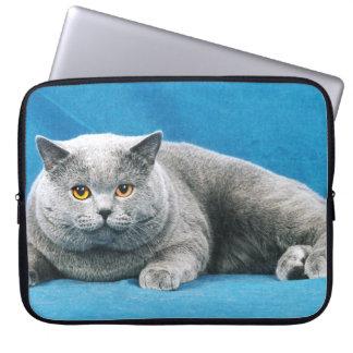 CAT LAPTOP CASE - BIG GREY CAT WITH ATTITUDE LAPTOP SLEEVES