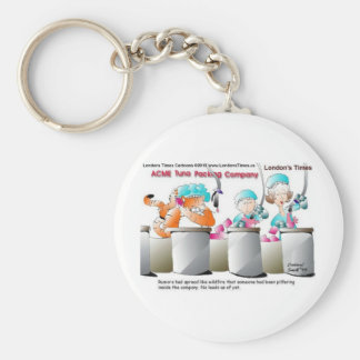 Cat Larceny Funny Cards Mugs Tees & Gifts Basic Round Button Keychain