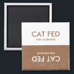 """Cat Last Fed... Evening &amp; Morning Reminder Magnet<br><div class=""""desc"""">Who fed daisy?   Stop asking around the house each morning and evening - instead,  keep track of the last time your pet was fed with this helpful magnet reminder.  Never forget to feed Daisy - or feed daisy two meals - again!</div>"""
