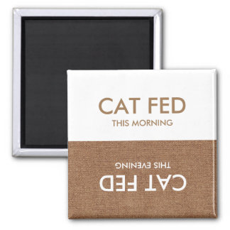 Cat Last Fed... Evening & Morning Reminder Magnet