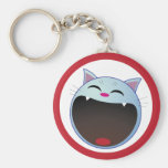 cat laughing key chains