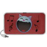 cat laughing laptop speakers