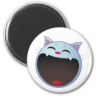 cat laughing magnet