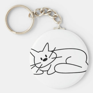 Cat Laying Down Keychains