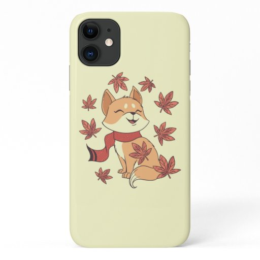 Cat Leaf Fall iPhone 11 Case