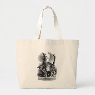 Cat Leg Rub Artwork Large Tote Bag