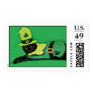 Cat Leprechaun St. Patrick's Day Stamp