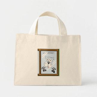Cat Let MEOWt. Mini Tote Bag