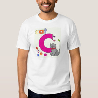Cat Letter C Tshirt