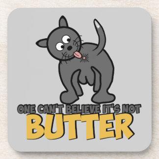 Cat licking bottom coaster