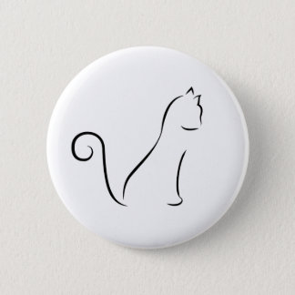 Cat Line Drawing Button