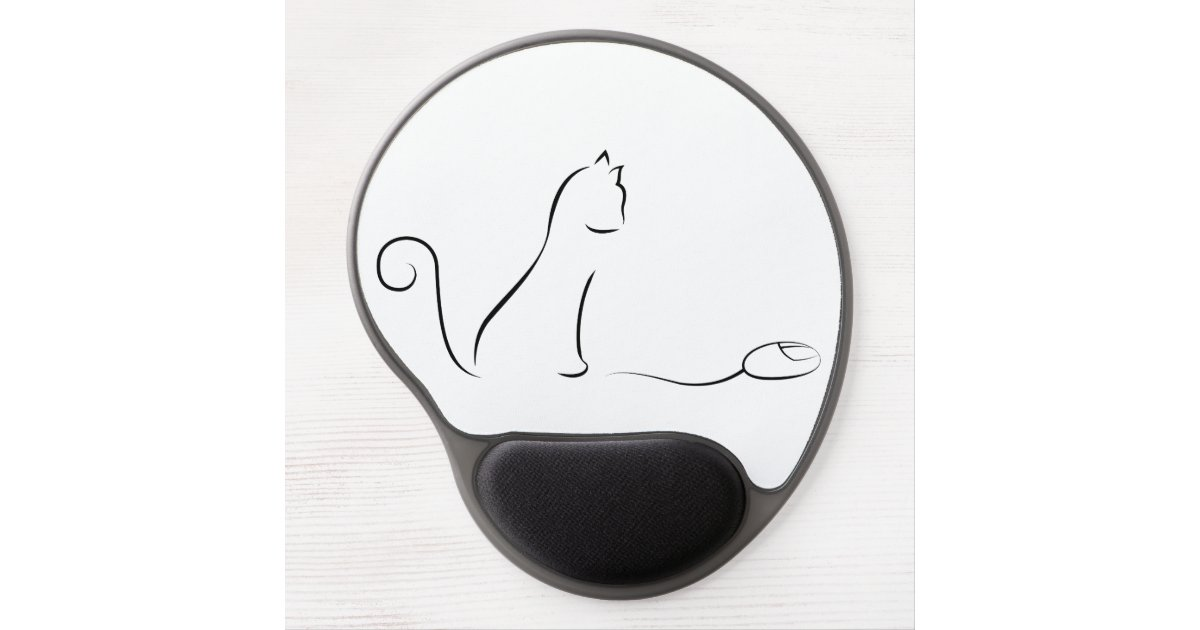 Drawing Lines With Mouse Opengl : Cat line drawing with mouse gel pad zazzle