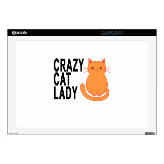 CAT LOCO LADY.png Skins Para Portátiles