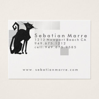 Cat Logo Design - Business Card Platinum