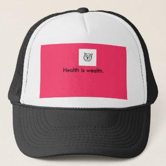 cat logo, Health is wealth. Trucker Hat