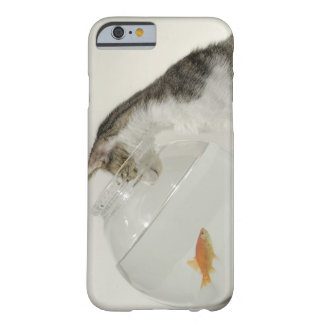 Cat looking at fish in fishbowl barely there iPhone 6 case