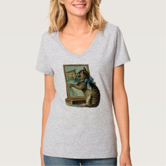 Cat & Looking Glass, Vintage Cat T-shirt