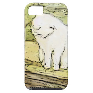 Cat Looking Into Pool iPhone 5 Case