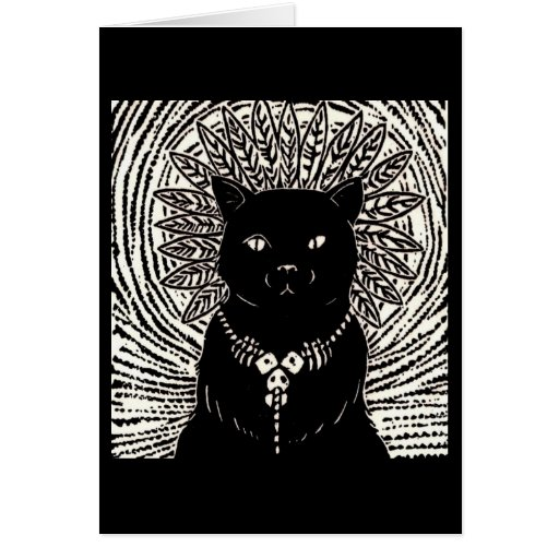 Cat Lord Greeting Card