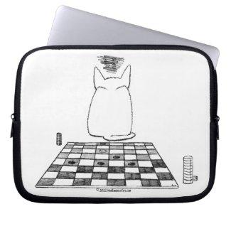 The Annoyed Cat plays checkers @ HamSandwichTees.com