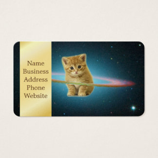 Cat lost in space business card