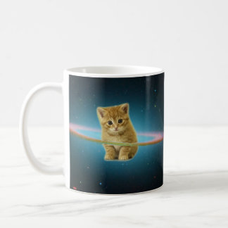 Cat lost in space coffee mug