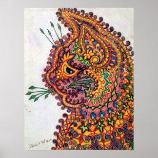 Cat, Louis Wain Print