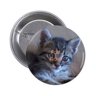 Cat love badge button
