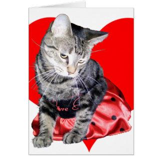 "Cat ""Love Bug"" Valentine's Day car... - Customized Card"