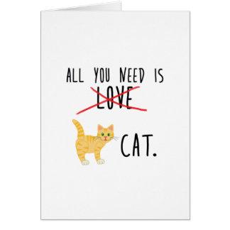 Cat Love Card