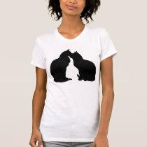 Cat love Cat kiss Cat lover Black cat t-shirt